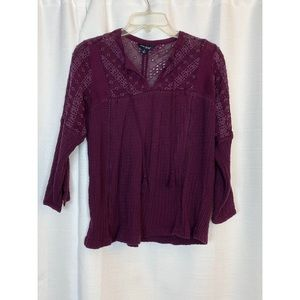 Lucky Brand Purple Blouse Size Small